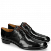 Derby shoes Clint 1 Black Deco Pieces Ruby