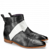 Ankle boots Elvis 26 Perfo Black Soft Patent White