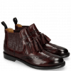 Ankle boots Selina 5 Burgundy Elastic Glitter
