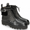 Ankle boots Susan 66 Crock Petrol Barrow Metal Sherling Black Sword Buckle