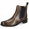Ankle boots Xsara 1 Venice Stone Elastic Navy Rubber Navy