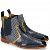 Ankle boots Lewis 26 Baby Croco Navy Olivine Textile Stripes Blue