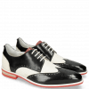 Derby shoes Dave 2 Black Vegas Perfo White Nappa Red