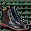Ankle boots Selina 6 Venice Navy Elastic Burgundy