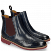 Ankle boots Selina 6 Venice Navy Elastic Burgundy
