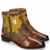 Ankle boots Marlin 12 Wood Hairon Halftone Mogano Yellow Gold Stars