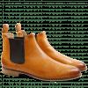 Ankle boots Susan 10 Salerno Perfo Arancio Elastic Brown LS