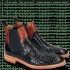 Ankle boots Brad 9 Woven Navy Orange Aspen Orange