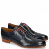 Derby shoes Clint 1 Perfo Navy Decor Piece Ruby