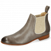 Ankle boots Sally 25 Imola Perfo New Taupe Elastic Lino