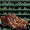 Oxford shoes Toni 15 Mid Brown Wood Lasercut LS Red