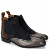 Ankle boots Rico 12 Venice Crock Stone Suede Pattini Perfo Navy Mid Brown