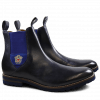 Ankle boots Eddy 27R Navy Strap Suede Electric Blue Embrodery Aspen Navy