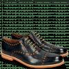 Oxford shoes Scott 15  Navy Underlay Patent Fluo Orange