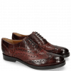 Oxford shoes Amelie 10 Turtle Wine Python Bordo Plum