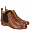 Ankle boots Sally 25 Venice Perfo Tan Elastic Navy