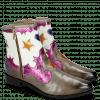 Ankle boots Marlin 12 Grigio Glitter Fuxia Venice Perfo White Heart Stars