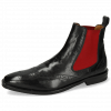Ankle boots Alex 9 Remo Black Elastic Red