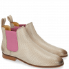 Ankle boots Susan 10 Salerno Perfo Nude Elastic Lilac