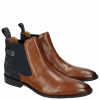 Ankle boots Victor 6 Rio Mid Brown Suede Pattini Navy