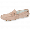 Loafers Caroline 1 Goat Suede Rose Dots
