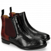 Ankle boots Daisy 6 Turtle Black Red Rivets