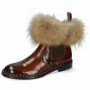 Ankle boots Sally 114 Turtle Mid Brown Python Brown Fur