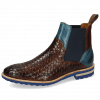 Ankle boots Brad 9 Woven Mid Brown Ice Lake Aspen Blue