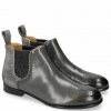 Ankle boots Sally 16 Suede Oily Stone Elastic Glitter Black