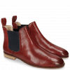 Ankle boots Susan 10 Perfo Red Elastic Navy