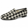 Loafers Scarlett 1 Textile Square Black White