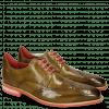Derby shoes Dave 2  Olive Rivets Skull