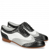 Oxford shoes Sally 97 Salerno Black French Grey Nappa Perfo White
