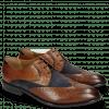 Derby shoes Victor 9 Venice Croco Mid Brown Suede Textile