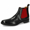 Ankle boots Clint 7 Imola Black Elastic Ribbed Red