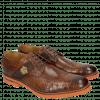 Derby shoes Eddy 25R Big Croco Brown Embrodery