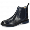 Ankle boots Selina 6 Navy Elastic Ribbed Navy Lining
