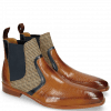 Ankle boots Lewis 26 Baby Croco Tan Navy Textile English Rope