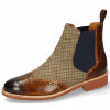 Ankle boots Selina 6 Wood Textile English Elastic Navy
