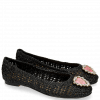 Ballet Pumps Kate 5 Woven 318 Black Raffia