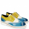 Derby shoes Blake 1 Vegas Mid Blue Perfo White Sun