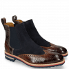 Ankle boots Tom 13 Crock Wood Suede Pattini Navy