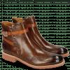 Ankle boots Amelie 11 Wood Strap Winter Orange