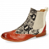 Ankle boots Amelie 5 Imola Earthly White Hairon Snake Black White