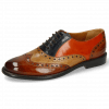Oxford shoes Selina 24 Cognac Sand Marine Winter Orange