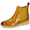 Ankle boots Selina 6 Indy Yellow Elastic Ribbed Mustard