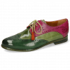 Derby shoes Selina 41 Dark Forest New Grass Dark Pink