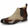 Ankle boots Sally 19 Chestnut Nappa Aztek Bronze Sheep Suede Elephant