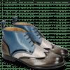Ankle boots Sally 30 Grigio Patent Black Grafi Gunmetal