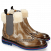 Ankle boots Amelie 63 Grigio Fur Lining Beige